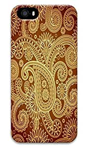 Online Designs Gold Paisley Pattern Vector PC Hard new Durable iphone5s cover