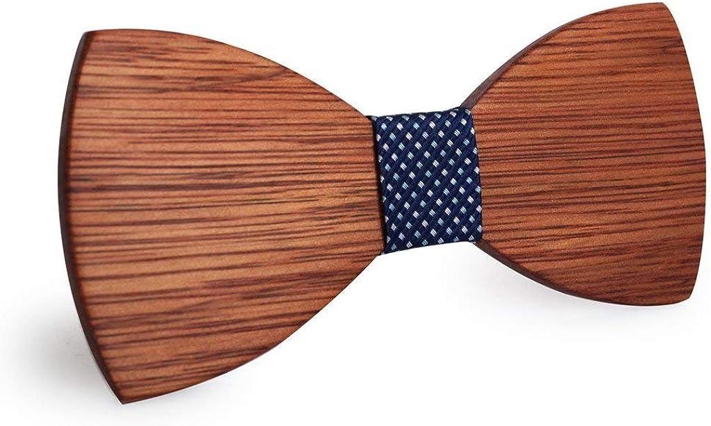 BeForBio Handgefertigte Holzfliege Trendy und modern schicker look Mode Accessoire und ideales Geschenk