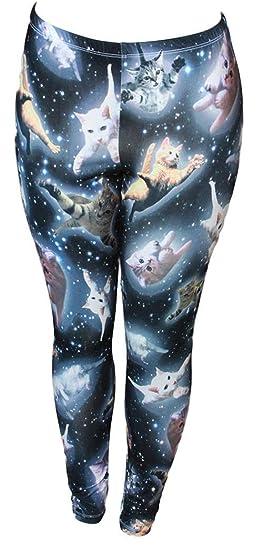 c37c16a15 Cute Space Kitten Ladies Leggings at Amazon Women s Clothing store