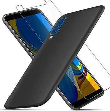 AROYI Funda Samsung Galaxy A7 2018 + Protector de Pantalla ...