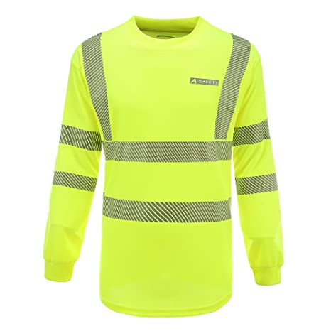 f1768281b0 Amazon.com: AYKRM Hi Vis T Shirt ANSI Class 3 Reflective Safety Lime Long  Sleeve HIGH Visibility(XL): Sports & Outdoors