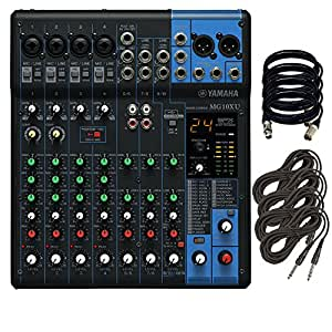 yamaha mg10xu 10 input stereo mixer w 4 xlr and 4 trs cables computers accessories. Black Bedroom Furniture Sets. Home Design Ideas