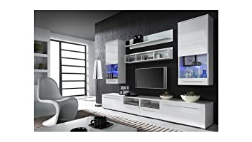 BMF LUNA Modern HIGH GLOSS WALL Entertainment UNIT/TV Stand Cabinet -  PERFECT Living Room/Bedroom / Studio Flat - QUALITY suitable PLASMA/LED /  ...