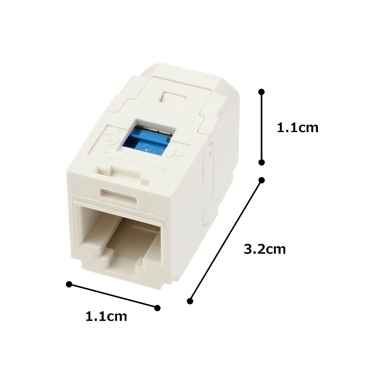 Panduit CC5E88IW Category-5E 1-Port 8-Position 8-Wire Connector Universal Coupler Module Off White