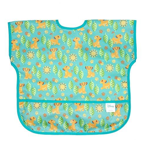 Bumkins Disney Lion King Simba Junior Bib / Short Sleeve Toddler Bib / Smock 1-3 Years, Waterproof, Washable, Stain and Odor Resistant