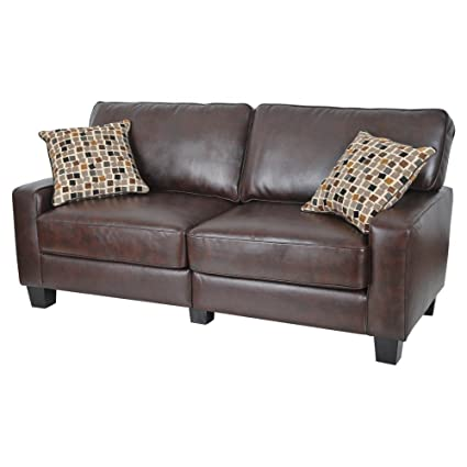 Outstanding Amazon Com Loveseats Sofa 2 Seat Brown Office Furniture Or Home Interior And Landscaping Ologienasavecom