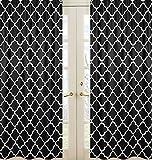 Cheap Sweet Jojo Designs 2-Piece Black and White Trellis Print Collection Lattice Window Treatment Panels