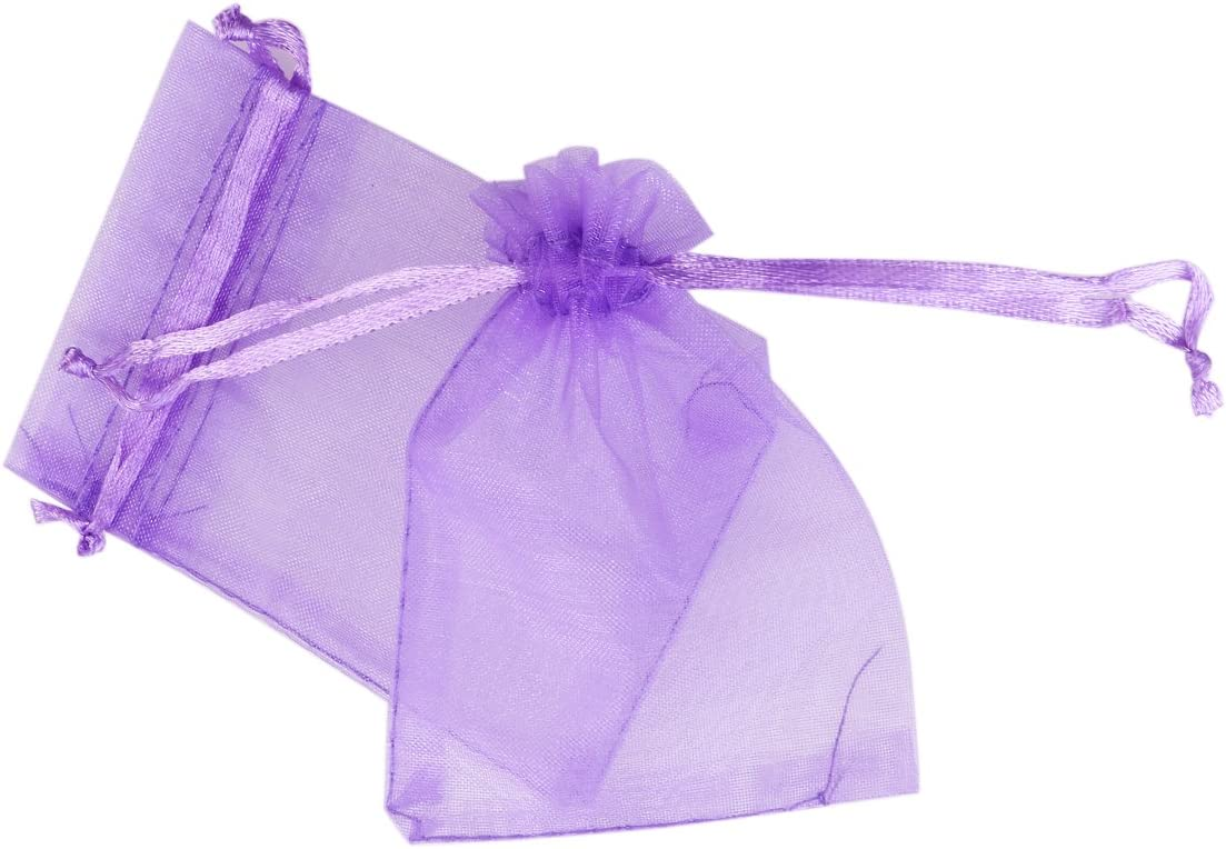 Pixnor Lot de 100 sachets en organza Violet 7 x 9 cm
