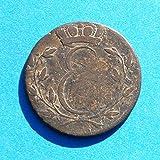 1810 DE German State Sachsen-Coburg-Saalfeld Ernst 4 Pfennig Coin Very Fine Detials