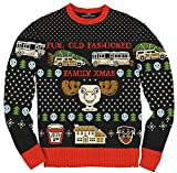 Christmas Vacation Fun Old Fashioned Family Xmas Ugly Christmas Sweater (2X) Black, Red