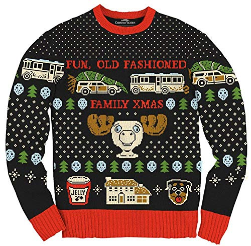 Christmas Vacation Ugly Sweater (Ripple Junction Christmas Vacation Fun Old Fashioned Family Xmas Ugly Christmas Sweater)