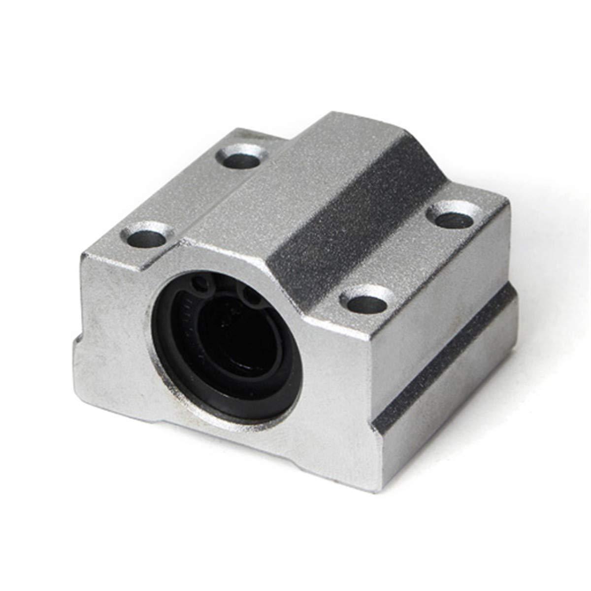 10//12 16Uu Blocco Di Boccole Di Scorrimento In Alluminio A Sfere Per Movimenti Lineari Scs 8Mm RanDal Scs8