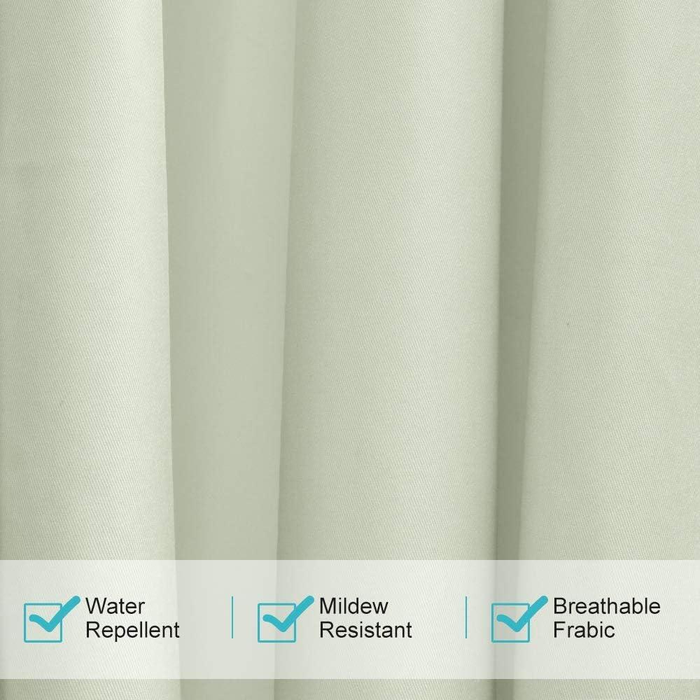 UniEco Garten Patio Ballon Vorh/änge Verdunkelungsvorh/änge Wasserdicht Mehltau Best/ändig f/ür Pavilion Strandhaus Grau wei/ß 1 St/ück 132x215cm Outdoorvorhang mit /Ösen