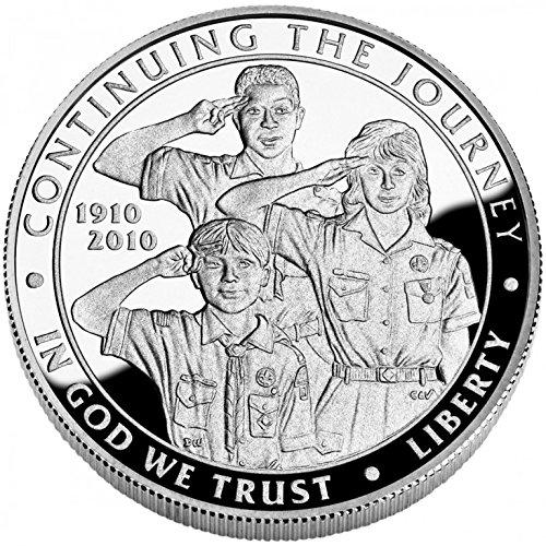 2010 P Boy Scouts Centennial Silver Dollar Commemorative Proof US Mint