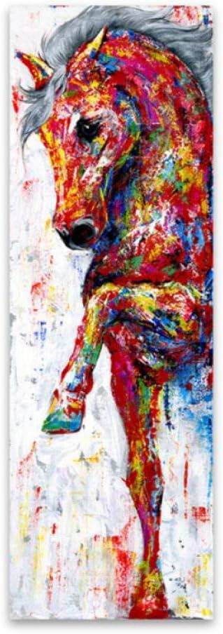 wcyljrb Arte de la pared Pintura de la lona Caballo Cuadro Poster Impresiones Pintura animal Decoración para el hogar-50cmx80cm