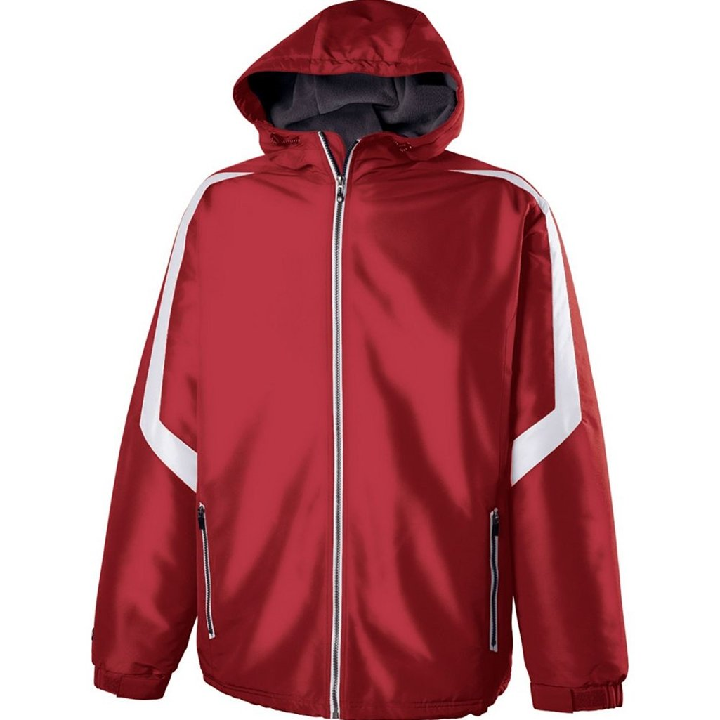 Holloway Youth Charger Jacket (X-Large, Scarlet/White) by Holloway
