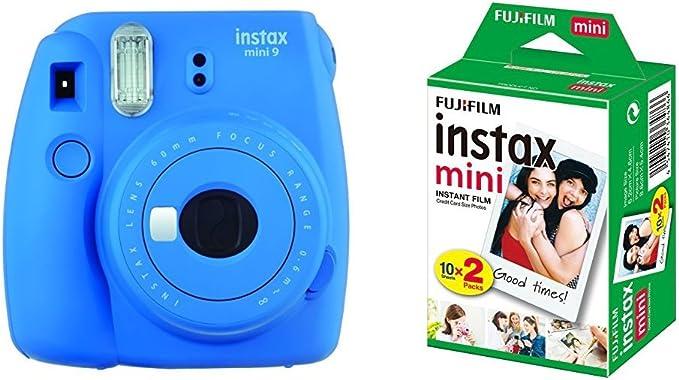 Fujifilm Instax Mini 9 Kamera Kobalt Blau Mit Film Kamera