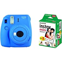 instax Mini 9 Camera - Cobalt Blue + Film 20 Shot Pack