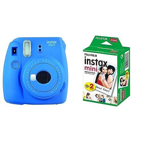 polaroid instax mini 9 ricariche  Fujifilm Instax Mini 9 Cobalt Blue Fotocamera Istantanea per Foto ...
