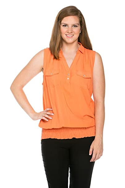 3ebfec109c6bc6 My Yuccie Women s Comfy Sleeveless Blouses Top Plus Size at Amazon ...