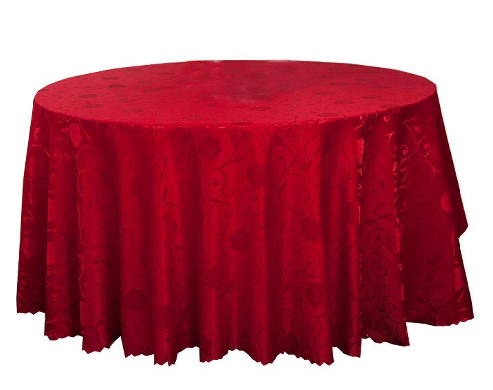 Banquet de mariage Accessoires de table Nappes rondes Couverture de table Peony rouge (240 * 240 CM) Black Temptation