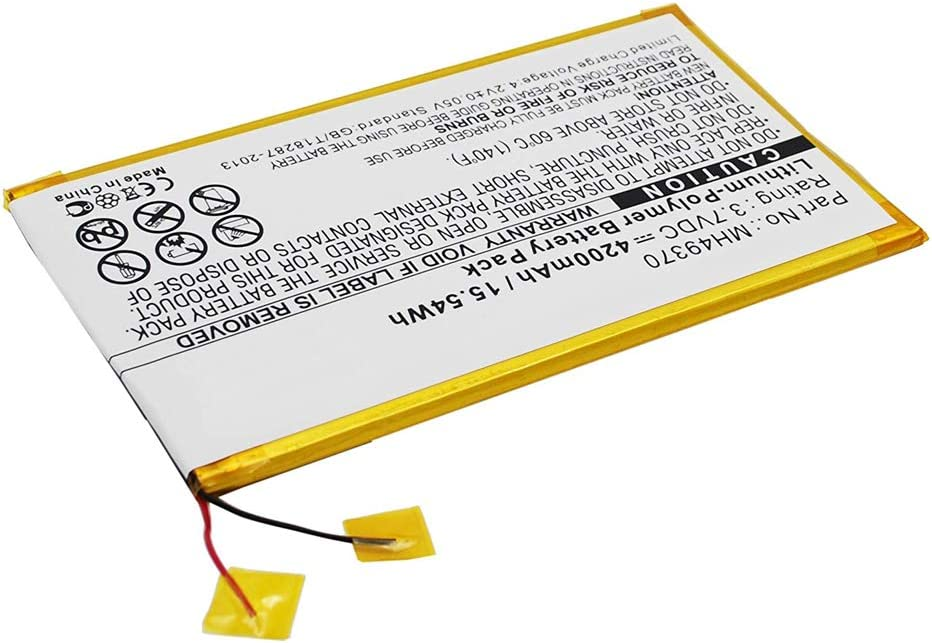 MPF Products 4200mAh MH49370 Battery Replacement Compatible with RCA 10-inch RCT6203W46 Tablet