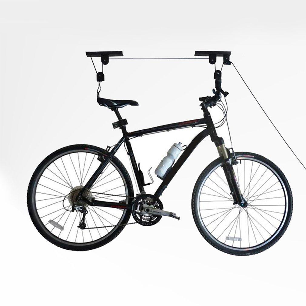 自転車リフトホイストガレージマウンテンバイクホイストユーティリティceiling-mounted Bike Lift Garageストレージカヌーリフト B07BWFWHZM