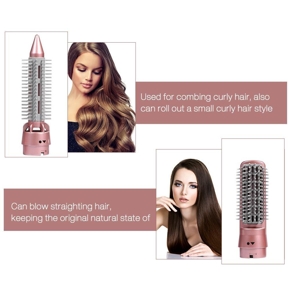 3 en 1 kit de cepillo estilizador difusor secador de aire caliente, cepillo de pelo giratorio secador de pelo iónico automático secador de cabello rizado ...