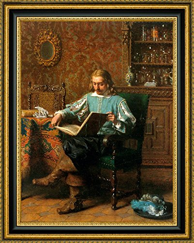 A Cavalrist Reading in a 17th Century Interior by Lambertus Lingeman - 12