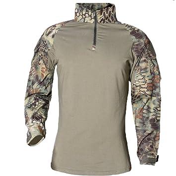 Camisa de combate Chaqueta militar del airsoft de los hombres de BDU Camisa de manga larga táctica: Amazon.es: Deportes y aire libre