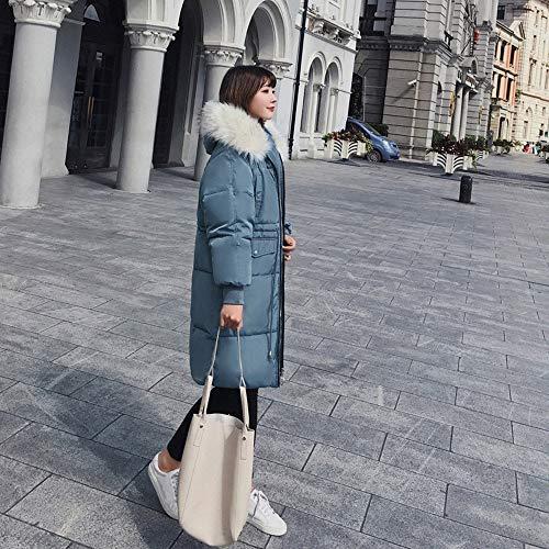 Giacche giacche Invernali Morwind Capispalla Giacca Con Donna Tasca Imbottite Cappotto Cotone Cappuccio Blue Cappotti Imbottita Pelliccia Donne Lungo xffqgXP