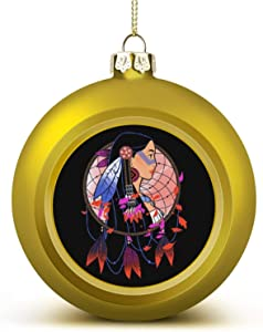 Pocahontas Colours of The Wind Anti-Drop Christmas Ball Ornaments, Plastic Ornaments Christmas Balls, Various Holiday Party Decorations
