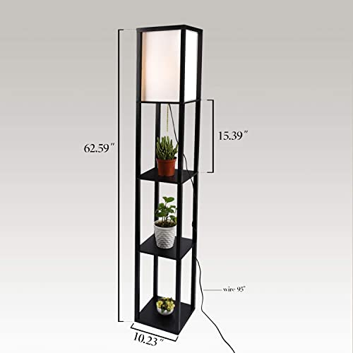 Simple Design Shelf Floor Lamp