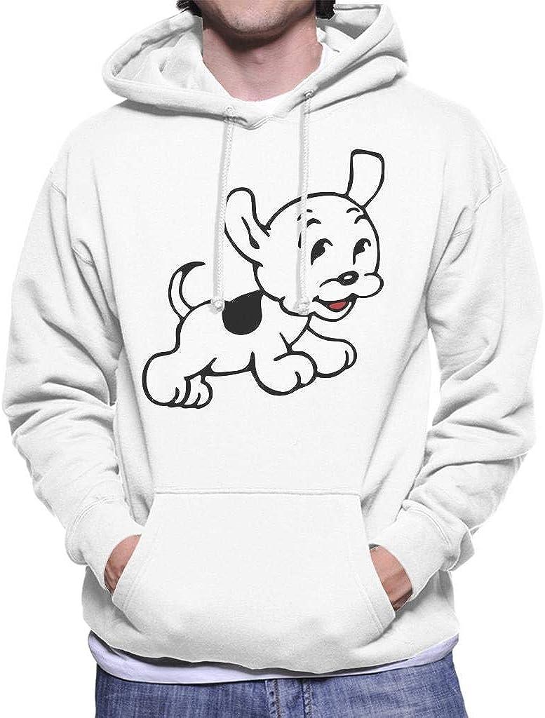 Betty Boop Pudgy Jumps Mens Hooded Sweatshirt