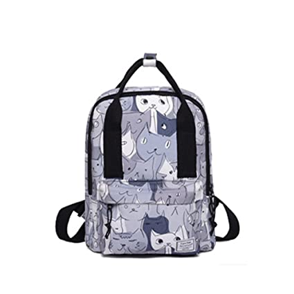 1038aec96d1d Amazon.com   Cute cat cartoon handbag shoulders backpack student ...