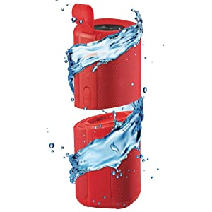 iBall Musi Twins – TWS Waterproof IPX7 Bluetooth Speaker (Red)