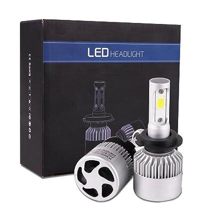 WOOCIKA H7 LED Faro Bombillas, H7 Bombillas LED COB Luces Delanteras del Coche Kit 8000
