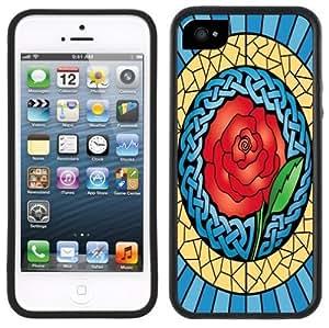 Celtic Rose Knot Handmade iPhone 5 Black Bumper Plastic Case