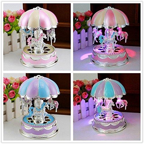 [Kids Girl Boy LED Horse Carousel Music Box Toy Clockwork Musical Christmas Gifts] (Titanic Costumes Ideas)