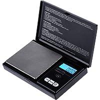 Zacro Balance digitale de poche 1000g x 0.1g, Balance de Cuisine, Balances de bijoux Mini Balance Electronique de Poche-Noir