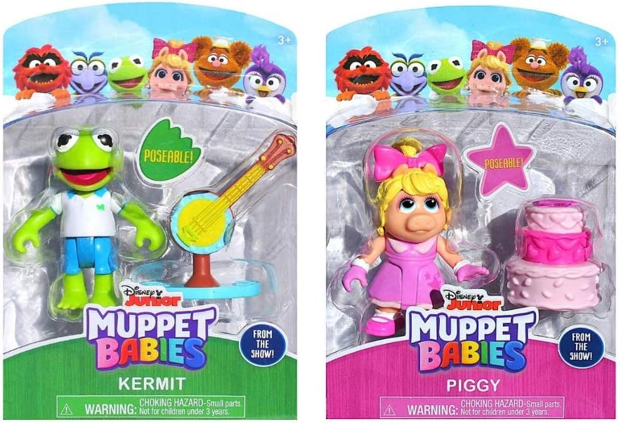 Wondrous Amazon Com Muppets Babies Piggy Kermit Gift Set Of 2 Figures Funny Birthday Cards Online Sheoxdamsfinfo