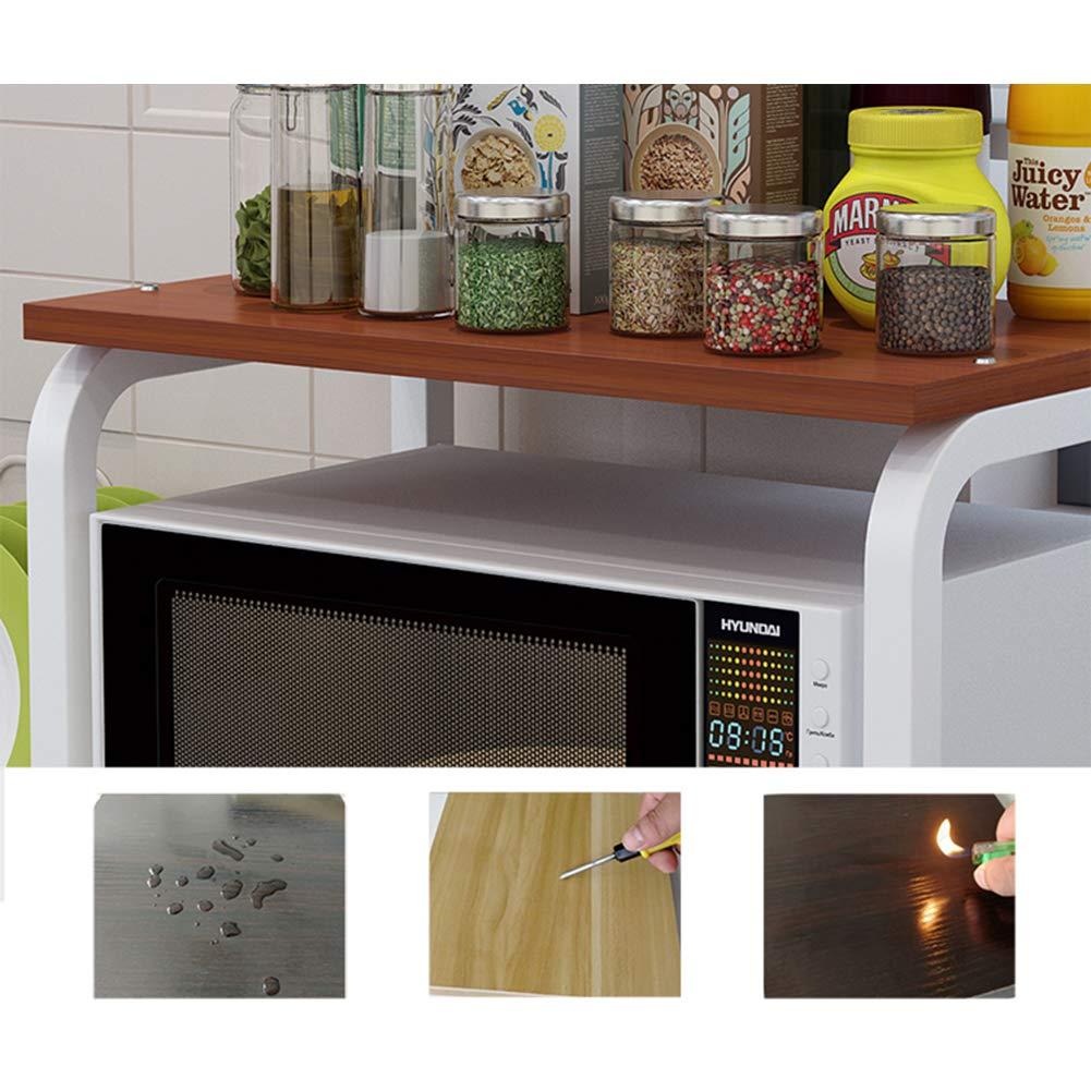 ZXCC Cocinas Estantería Microondas Y Horno, Multiuso Estantería ...