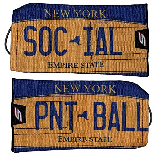 Social Paintball Barrel Cover/Sock, York Empire State Gold License Plate
