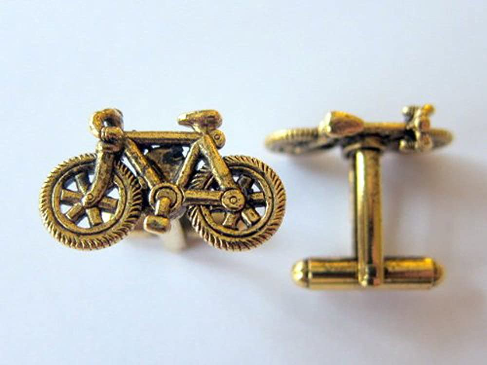 Bicycle Gold Cufflinks by Classic Cufflinks