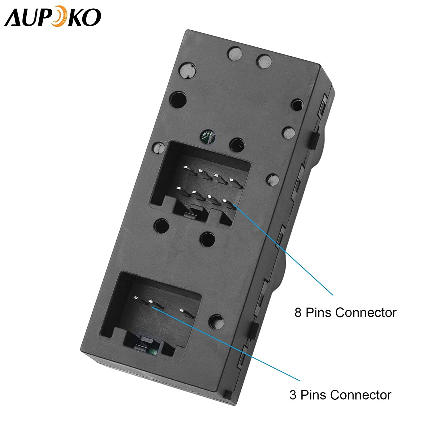 Replaces# 5L1Z-14529-AA 2003-2008 Ford Crown Victoria 2003-2006 Ford Expedition Aupoko Driver Side Master Power Window Switch 5L1Z14529AA 4L1Z-14529-AAA Fits for 2004-2008 Ford F-150