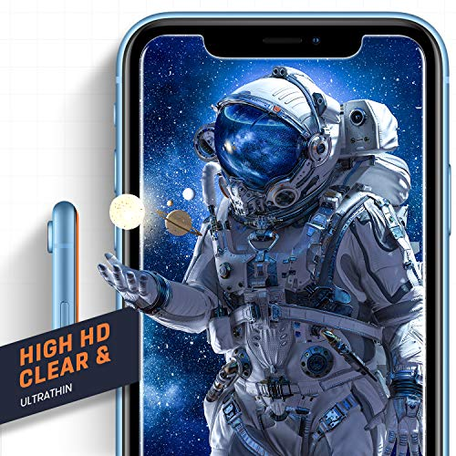 Mkeke Compatible with iPhone XR Screen Protector, IPhone 11 Screen protector,Tempered Glass Film for Apple iPhone XR and…