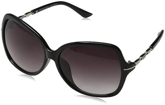 Womens Mariah Sunglasses, Black/Grey Gradient, 60 Eyelevel