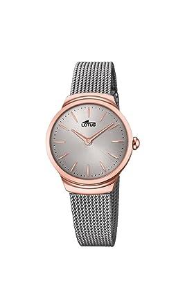 Lotus Watches Reloj Análogo clásico para Mujer de Cuarzo con Correa en Acero Inoxidable 18496/1: Amazon.es: Relojes
