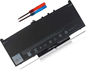 TECHEER J60J5 Laptop Battery Compatible with Dell Latitude E7270 E7470 Series Notebook R1V85 451-BBSX 451-BBSY 451-BBSU MC34Y 0MC34Y 242WD PDNM2 1W2Y2 GG4FM 0GG4FM WYWJ2 [ 7.6V 55WH ]
