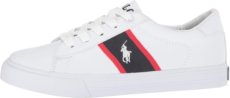 M125 M US Little Kid Polo Ralph Lauren Kids Geoff Sneaker Tumbled//Navy//red White pop
